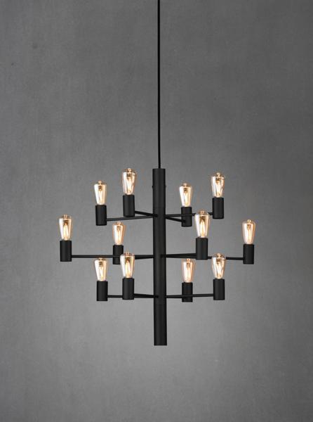 Bilde av Herstal Manola 12 sort, ink LED lyskilde