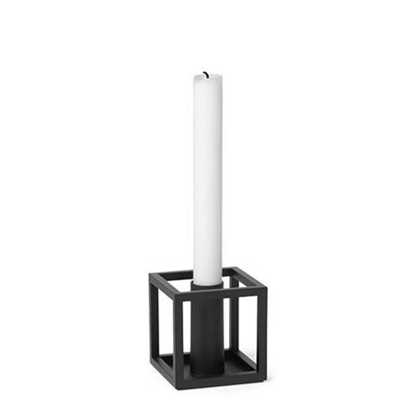 Bilde av By lassen kubus 1 candleholder, sort