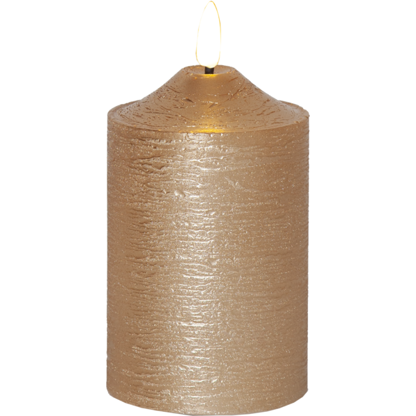Bilde av Flamme Wax Candle Led 15 cm  gull